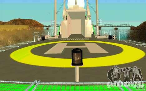Rainbow Warrior для GTA San Andreas вид изнутри