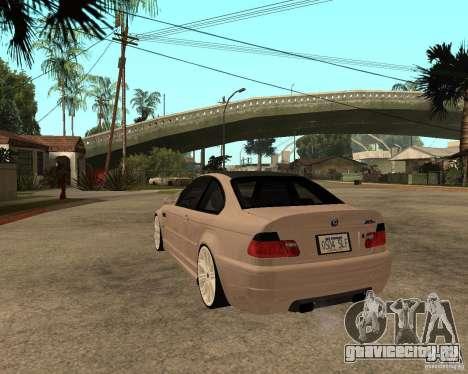 BMW M3 CSL E46 G-Power для GTA San Andreas вид слева