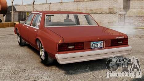 Chevrolet Caprice Classic 1979 для GTA 4 вид сзади слева