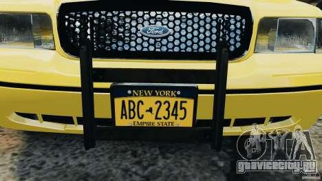 Ford Crown Victoria NYC Taxi 2004 для GTA 4 вид изнутри