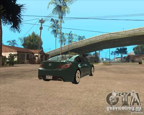 Hyundai Genesis Coupe для GTA San Andreas вид сзади слева