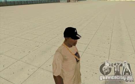Кепка adidas black для GTA San Andreas третий скриншот