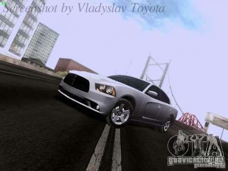 Dodge Charger 2013 для GTA San Andreas вид сзади слева