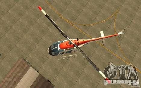 Bell 206 B Police texture2 для GTA San Andreas вид сзади