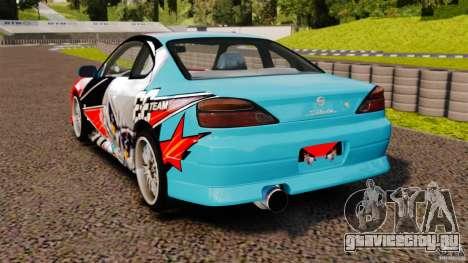 Nissan Silvia S15 Evil Empire для GTA 4 вид сзади слева