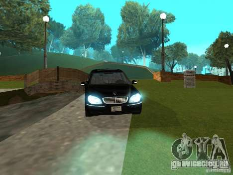 Mercedes-Benz S600 Biturbo 2003 v2 для GTA San Andreas вид справа
