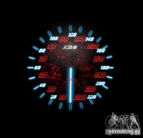 Neon Style Speedometr для GTA San Andreas четвёртый скриншот