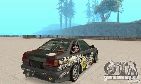 Toyota AE86wrt Rockstar для GTA San Andreas вид слева