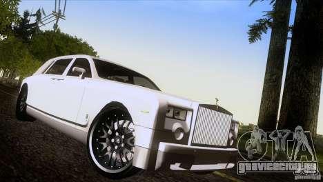 Rolls Royce Phantom Hamann для GTA San Andreas салон