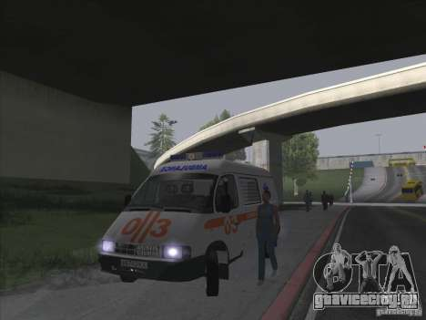 ГАЗ 22172 Скорая помощь для GTA San Andreas вид изнутри
