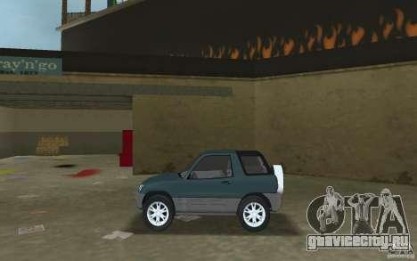 Toyota RAV4 для GTA Vice City вид слева