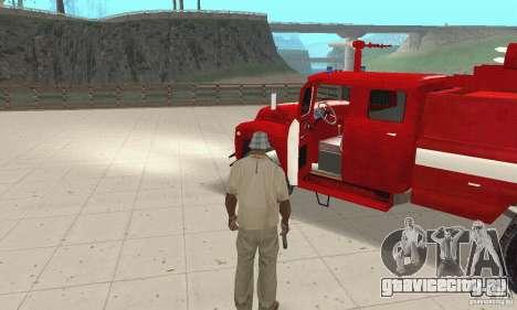 ЗИЛ-130 пожарная для GTA San Andreas вид сзади