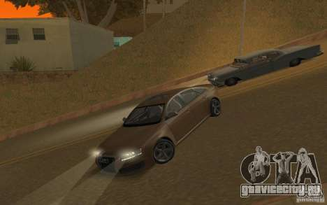 Audi RS6 TT Black Revel для GTA San Andreas вид изнутри