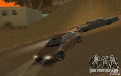 Audi RS6 TT Black Revel для GTA San Andreas вид изнутри