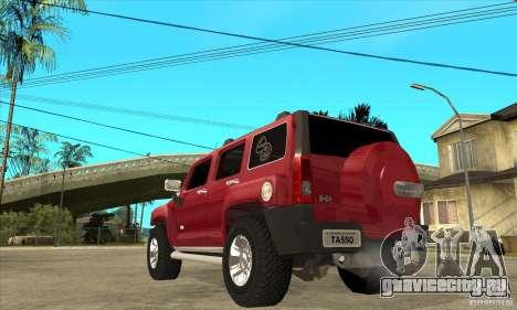 Hummer H3 для GTA San Andreas вид сзади слева