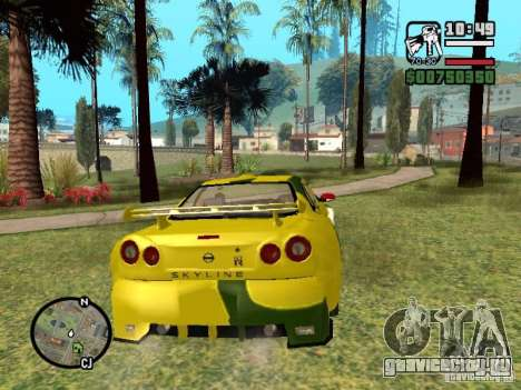 Nissan Skyline 2Fast 2Furious NEW для GTA San Andreas вид справа