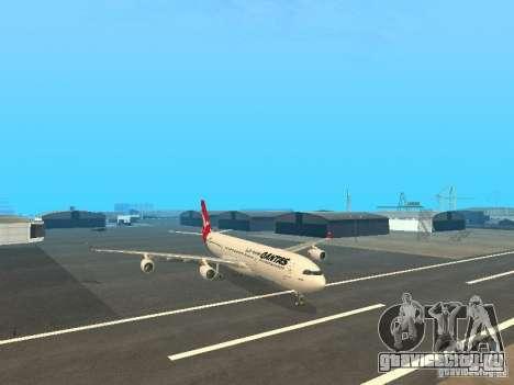 Airbus A340-300 Qantas Airlines для GTA San Andreas вид сзади слева