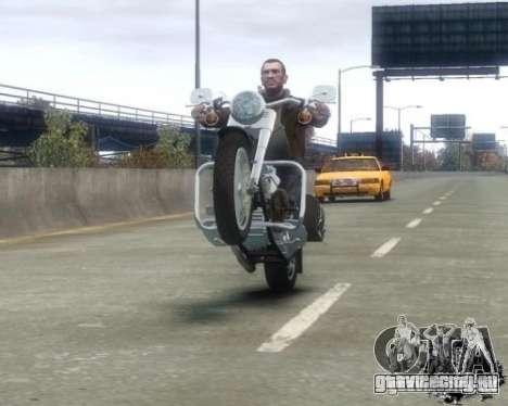 Harley Davidson FLSTF Fat Boy для GTA 4 вид справа
