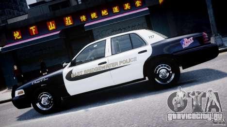 Ford Crown Victoria Massachusetts Police [ELS] для GTA 4 вид снизу