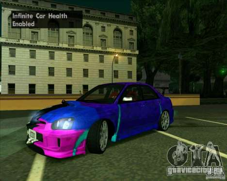 Subaru Impreza Tuned для GTA San Andreas