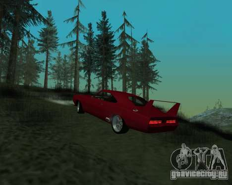 Dodge Charger Daytona для GTA San Andreas вид справа