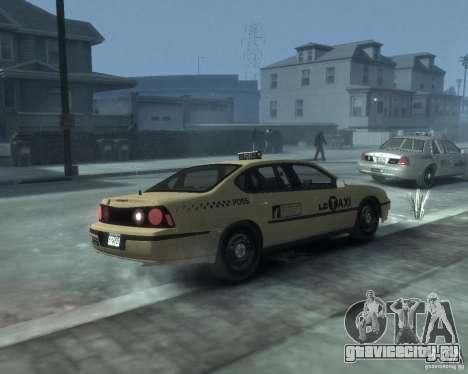 Chevrolet Impala 2003 Taxi для GTA 4 вид справа