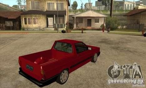 VW Saveiro GL 1989 для GTA San Andreas вид справа