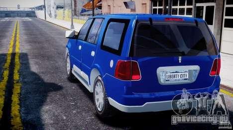 Lincoln Navigator 2004 для GTA 4 вид сзади слева