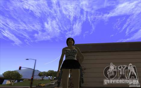 Kaileena big fan для GTA San Andreas второй скриншот