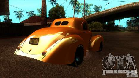 Americar Willys 1941 для GTA San Andreas вид справа