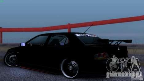 Mitsubishi Lancer Evolution 8 Drift для GTA San Andreas вид справа