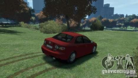 Mazda 6 MPS для GTA 4 вид сзади