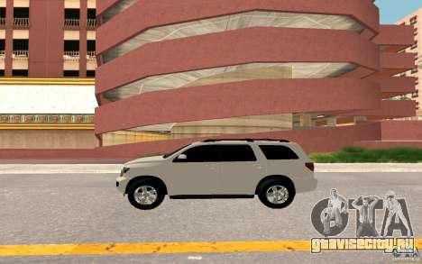 Toyota Sequoia 2011 для GTA San Andreas вид изнутри