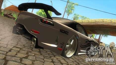 Mazda RX-7 Veilside Logan для GTA San Andreas вид сзади слева