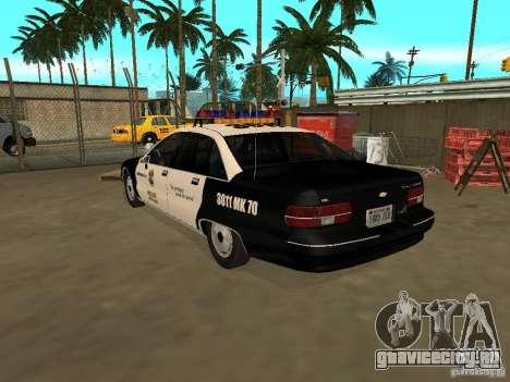 Chevrolet Caprice Police для GTA San Andreas вид слева