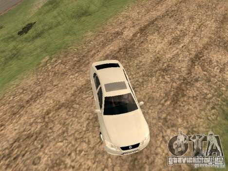 Lexus GS-350 для GTA San Andreas вид сзади