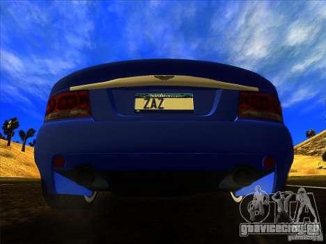 Aston Martin V12 Vanquish V1.0 для GTA San Andreas вид изнутри