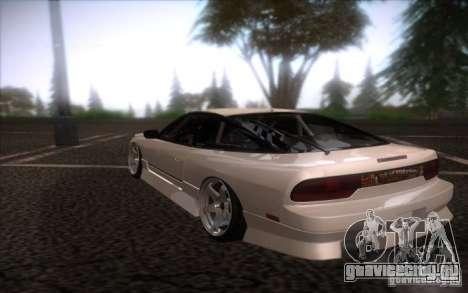 Nissan 240SX DriftMonkey для GTA San Andreas вид сзади слева