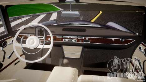 Mercedes-Benz W111 v1.0 для GTA 4 вид сзади