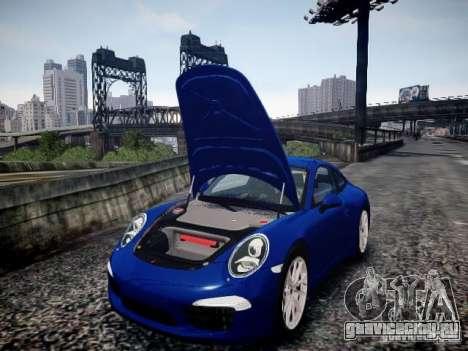 Porsche 911 Carrera S 2012 для GTA 4 вид изнутри