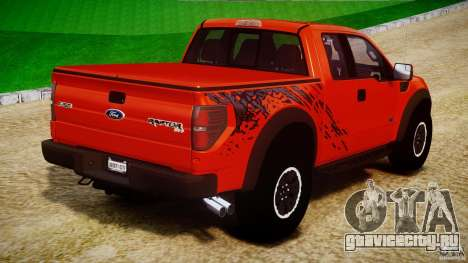 Ford F150 SVT Raptor 2011 для GTA 4 вид сверху