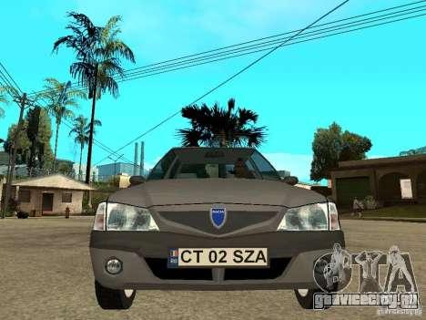 Dacia Solenza для GTA San Andreas вид справа