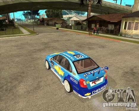 Chevrolet Lacetti WTCC для GTA San Andreas вид слева