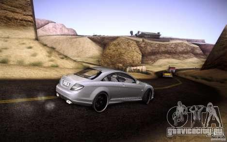 Mercedes Benz CL65 AMG для GTA San Andreas вид сверху