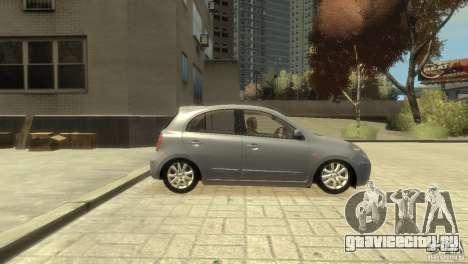 Nissan Micra для GTA 4 вид справа