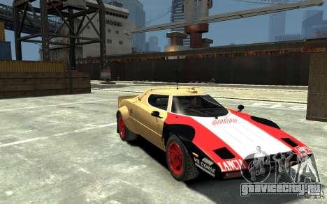 Lancia Stratos для GTA 4 вид сзади