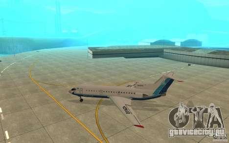 Як-42Д Скат (Казахстан) для GTA San Andreas вид сзади слева
