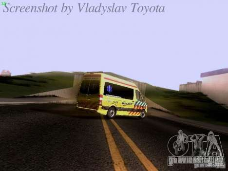 Mercedes-Benz Sprinter Ambulance для GTA San Andreas вид сверху