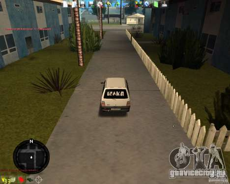 ОКА ВАЗ 11113 для GTA San Andreas вид сзади слева