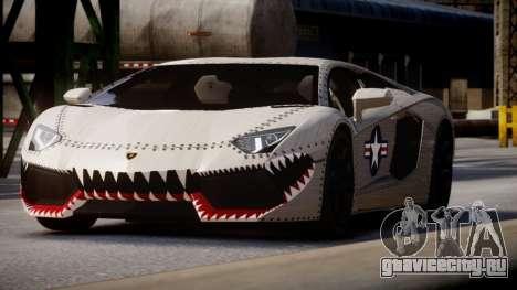 Lamborghini Aventador LP700-4 2012 USAF для GTA 4 вид сзади слева